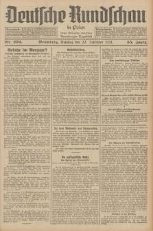 Deutsche Rundschau in Polen : früher Ostdeutsche Rundschau, Bromberger Tageblatt. Jg.55, Nr. 270 (22 November 1931) + dod.