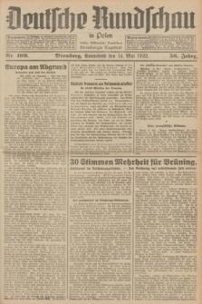 Deutsche Rundschau in Polen : früher Ostdeutsche Rundschau, Bromberger Tageblatt. Jg.56, Nr. 109 (14 Mai 1932) + dod.