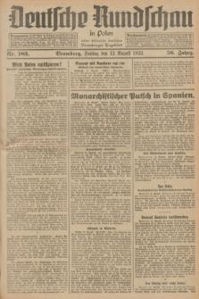 Deutsche Rundschau in Polen : früher Ostdeutsche Rundschau, Bromberger Tageblatt. Jg.56, Nr. 183 (12 August 1932) + dod.
