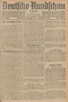 Deutsche Rundschau in Polen : früher Ostdeutsche Rundschau, Bromberger Tageblatt. Jg.56, Nr. 202 (4 September 1932) + dod.
