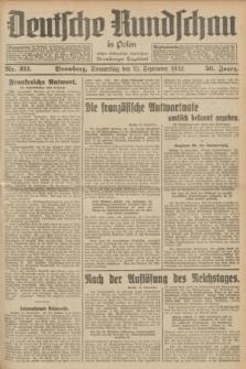Deutsche Rundschau in Polen : früher Ostdeutsche Rundschau, Bromberger Tageblatt. Jg.56, Nr. 211 (15 September 1932) + dod.