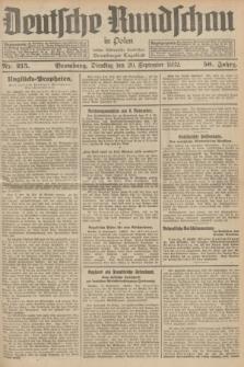 Deutsche Rundschau in Polen : früher Ostdeutsche Rundschau, Bromberger Tageblatt. Jg.56, Nr. 215 (20 September 1932) + dod.