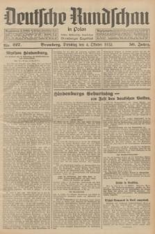 Deutsche Rundschau in Polen : früher Ostdeutsche Rundschau, Bromberger Tageblatt. Jg.56, Nr. 227 (4 Oktober 1932) + dod.