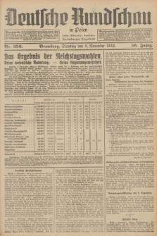 Deutsche Rundschau in Polen : früher Ostdeutsche Rundschau, Bromberger Tageblatt. Jg.56, Nr. 256 (8 November 1932) + dod.