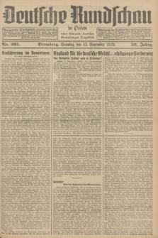 Deutsche Rundschau in Polen : früher Ostdeutsche Rundschau, Bromberger Tageblatt. Jg.56, Nr. 261 (13 November 1932) + dod.