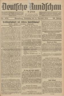 Deutsche Rundschau in Polen : früher Ostdeutsche Rundschau, Bromberger Tageblatt. Jg.56, Nr. 270 (24 November 1932) + dod.