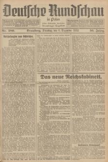 Deutsche Rundschau in Polen : früher Ostdeutsche Rundschau, Bromberger Tageblatt. Jg.56, Nr. 280 (6 Dezember 1932) + dod.