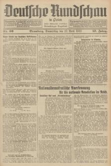 Deutsche Rundschau in Polen : früher Ostdeutsche Rundschau, Bromberger Tageblatt. Jg.57, Nr. 96 (27 April 1933) + dod.