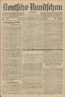 Deutsche Rundschau in Polen : früher Ostdeutsche Rundschau, Bromberger Tageblatt. Jg.57, Nr. 135 (15 Juni 1933) + dod.