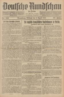 Deutsche Rundschau in Polen : früher Ostdeutsche Rundschau, Bromberger Tageblatt. Jg.57, Nr. 180 (9 August 1933) + dod.