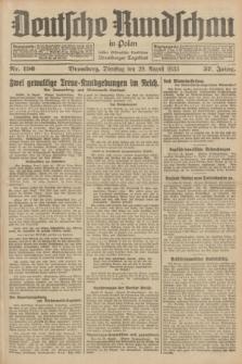 Deutsche Rundschau in Polen : früher Ostdeutsche Rundschau, Bromberger Tageblatt. Jg.57, Nr. 196 (29 August 1933) + dod.