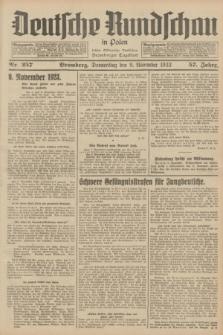 Deutsche Rundschau in Polen : früher Ostdeutsche Rundschau, Bromberger Tageblatt. Jg.57, Nr. 257 (9 November 1933) + dod.