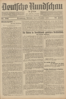 Deutsche Rundschau in Polen : früher Ostdeutsche Rundschau, Bromberger Tageblatt. Jg.57, Nr. 280 (6 Dezember 1933) + dod.