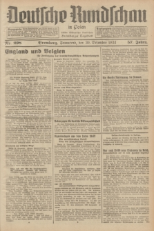 Deutsche Rundschau in Polen : früher Ostdeutsche Rundschau, Bromberger Tageblatt. Jg.57, Nr. 298 (30 Dezember 1933) + dod.