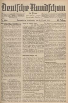 Deutsche Rundschau in Polen : früher Ostdeutsche Rundschau, Bromberger Tageblatt. Jg.58, Nr. 196 (30 August 1934) + dod.