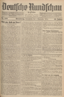 Deutsche Rundschau in Polen : früher Ostdeutsche Rundschau, Bromberger Tageblatt. Jg.58, Nr. 198 (1 September 1934) + dod.