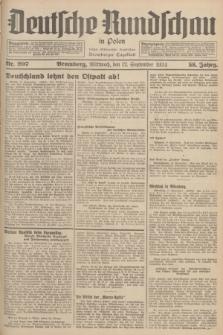 Deutsche Rundschau in Polen : früher Ostdeutsche Rundschau, Bromberger Tageblatt. Jg.58, Nr. 207 (12 September 1934) + dod.