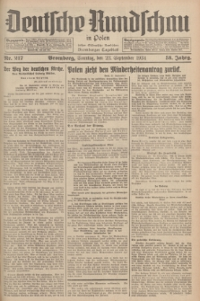 Deutsche Rundschau in Polen : früher Ostdeutsche Rundschau, Bromberger Tageblatt. Jg.58, Nr. 217 (23 September 1934) + dod.
