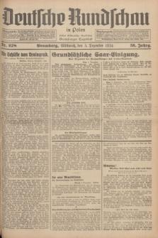 Deutsche Rundschau in Polen : früher Ostdeutsche Rundschau, Bromberger Tageblatt. Jg.58, Nr. 278 (5 Dezember 1934) + dod.