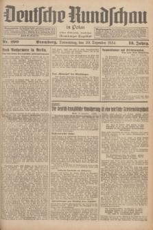 Deutsche Rundschau in Polen : früher Ostdeutsche Rundschau, Bromberger Tageblatt. Jg.58, Nr. 290 (20 Dezember 1934) + dod.
