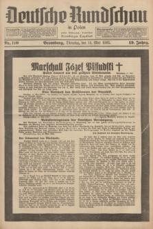 Deutsche Rundschau in Polen : früher Ostdeutsche Rundschau, Bromberger Tageblatt. Jg.59, Nr. 110 (14 Mai 1935) + dod.