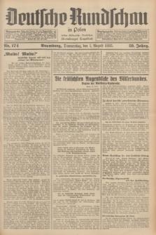 Deutsche Rundschau in Polen : früher Ostdeutsche Rundschau, Bromberger Tageblatt. Jg.59, Nr. 174 (1 August 1935) + dod.
