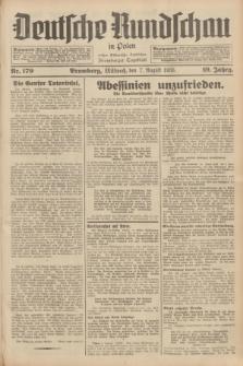 Deutsche Rundschau in Polen : früher Ostdeutsche Rundschau, Bromberger Tageblatt. Jg.59, Nr. 179 (7 August 1935) + dod.