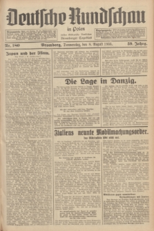 Deutsche Rundschau in Polen : früher Ostdeutsche Rundschau, Bromberger Tageblatt. Jg.59, Nr. 180 (8 August 1935) + dod.