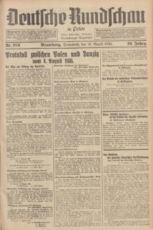 Deutsche Rundschau in Polen : früher Ostdeutsche Rundschau, Bromberger Tageblatt. Jg.59, Nr. 182 (10 August 1935) + dod.