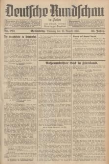 Deutsche Rundschau in Polen : früher Ostdeutsche Rundschau, Bromberger Tageblatt. Jg.59, Nr. 184 (13 August 1935) + dod.