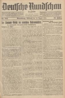 Deutsche Rundschau in Polen : früher Ostdeutsche Rundschau, Bromberger Tageblatt. Jg.59, Nr. 185 (14 August 1935) + dod.