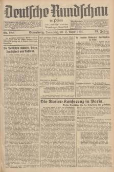 Deutsche Rundschau in Polen : früher Ostdeutsche Rundschau, Bromberger Tageblatt. Jg.59, Nr. 186 (15 August 1935) + dod.