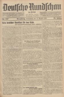 Deutsche Rundschau in Polen : früher Ostdeutsche Rundschau, Bromberger Tageblatt. Jg.59, Nr. 187 (17 August 1935) + dod.