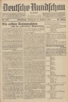 Deutsche Rundschau in Polen : früher Ostdeutsche Rundschau, Bromberger Tageblatt. Jg.59, Nr. 207 (10 September 1935) + dod.