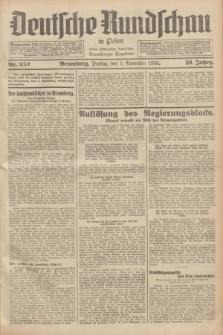 Deutsche Rundschau in Polen : früher Ostdeutsche Rundschau, Bromberger Tageblatt. Jg.59, Nr. 252 (1 November 1935) + dod.