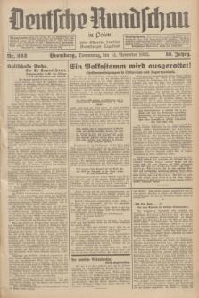 Deutsche Rundschau in Polen : früher Ostdeutsche Rundschau, Bromberger Tageblatt. Jg.59, Nr. 262 (14 November 1935) + dod.