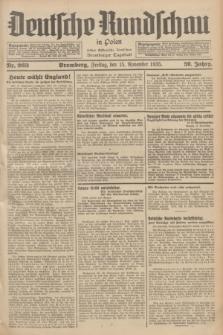 Deutsche Rundschau in Polen : früher Ostdeutsche Rundschau, Bromberger Tageblatt. Jg.59, Nr. 263 (15 November 1935) + dod.