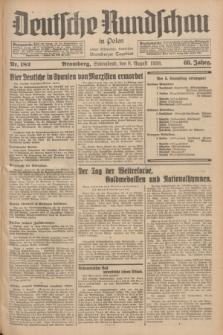 Deutsche Rundschau in Polen : früher Ostdeutsche Rundschau, Bromberger Tageblatt. Jg.60, Nr. 182 (8 August 1936) + dod.