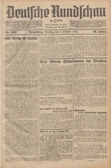 Deutsche Rundschau in Polen : früher Ostdeutsche Rundschau, Bromberger Tageblatt. Jg.60, Nr. 230 (4 Oktober 1936) + dod.
