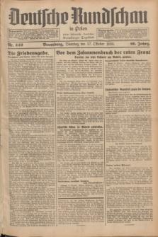 Deutsche Rundschau in Polen : früher Ostdeutsche Rundschau, Bromberger Tageblatt. Jg.60, Nr. 249 (27 Oktober 1936) + dod.