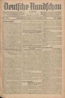 Deutsche Rundschau in Polen : früher Ostdeutsche Rundschau, Bromberger Tageblatt. Jg.60, Nr. 278 (29 November 1936) + dod.