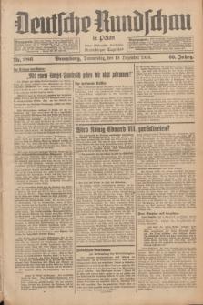 Deutsche Rundschau in Polen : früher Ostdeutsche Rundschau, Bromberger Tageblatt. Jg.60, Nr. 286 (10 Dezember 1936) + dod.