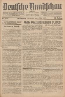 Deutsche Rundschau in Polen : früher Ostdeutsche Rundschau, Bromberger Tageblatt, Pommereller Tageblatt. Jg.61, Nr. 102 (6 Mai 1937) + dod.