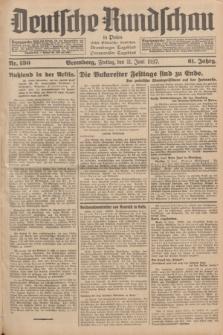 Deutsche Rundschau in Polen : früher Ostdeutsche Rundschau, Bromberger Tageblatt, Pommereller Tageblatt. Jg.61, Nr. 130 (11 Juni 1937) + dod.