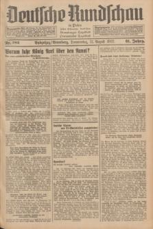 Deutsche Rundschau in Polen : früher Ostdeutsche Rundschau, Bromberger Tageblatt, Pommereller Tageblatt. Jg.61, Nr. 182 (12 August 1937) + dod.