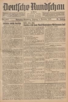 Deutsche Rundschau in Polen : früher Ostdeutsche Rundschau, Bromberger Tageblatt, Pommereller Tageblatt. Jg.61, Nr. 257 (9 November 1937) + dod.