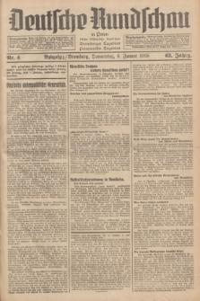 Deutsche Rundschau in Polen : früher Ostdeutsche Rundschau, Bromberger Tageblatt, Pommereller Tageblatt. Jg.62, Nr. 4 (6 Januar 1938) + dod.