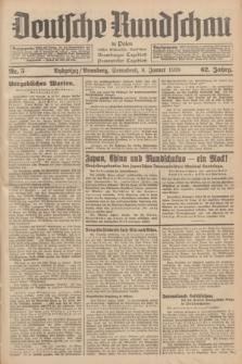 Deutsche Rundschau in Polen : früher Ostdeutsche Rundschau, Bromberger Tageblatt, Pommereller Tageblatt. Jg.62, Nr. 5 (8 Januar 1938) + dod.