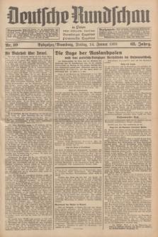 Deutsche Rundschau in Polen : früher Ostdeutsche Rundschau, Bromberger Tageblatt, Pommereller Tageblatt. Jg.62, Nr. 10 (14 Januar 1938) + dod.