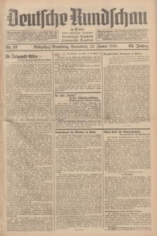 Deutsche Rundschau in Polen : früher Ostdeutsche Rundschau, Bromberger Tageblatt, Pommereller Tageblatt. Jg.62, Nr. 17 (22 Januar 1938) + dod.